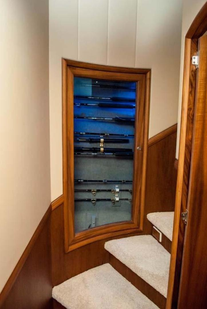 F&S-Convertible 2013-Triple F Coral Gables-Florida-United States-Companionway and Rod Storage-1016947 | Thumbnail