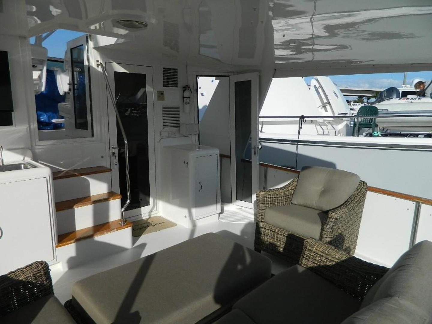 Hatteras-Sport Deck 1998-Capital Gains Stuart-Florida-United States-Aft Deck to Starboard-371157 | Thumbnail