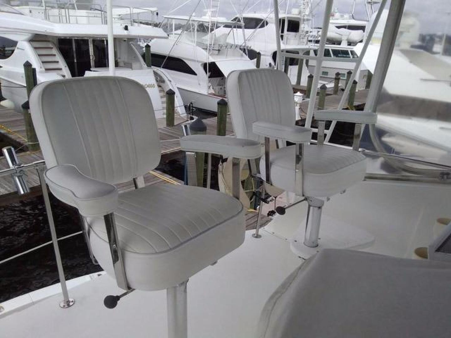 Hatteras-50 Convertible 1981 -Stuart-Florida-United States-Helm Chairs-372079 | Thumbnail