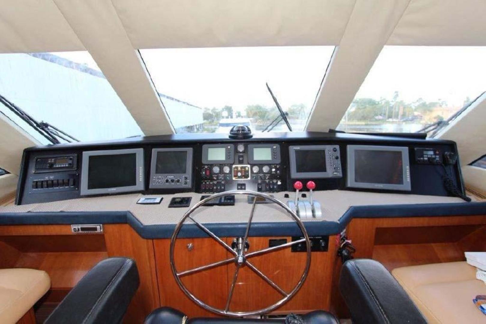 Hatteras-Enclosed Bridge 2002-El Bohemio Miami-Florida-United States-Flybridge Helm-369540 | Thumbnail