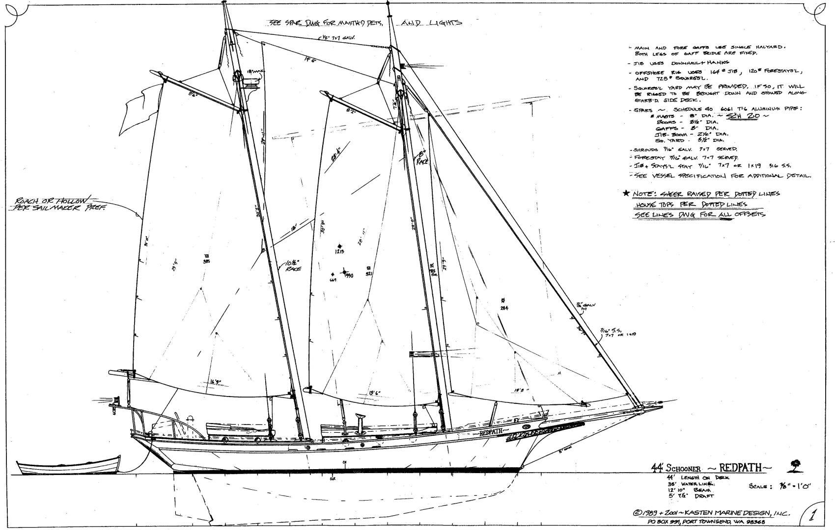Kasten Marine Designed 44 Redpath Schooner 2013 For Sale