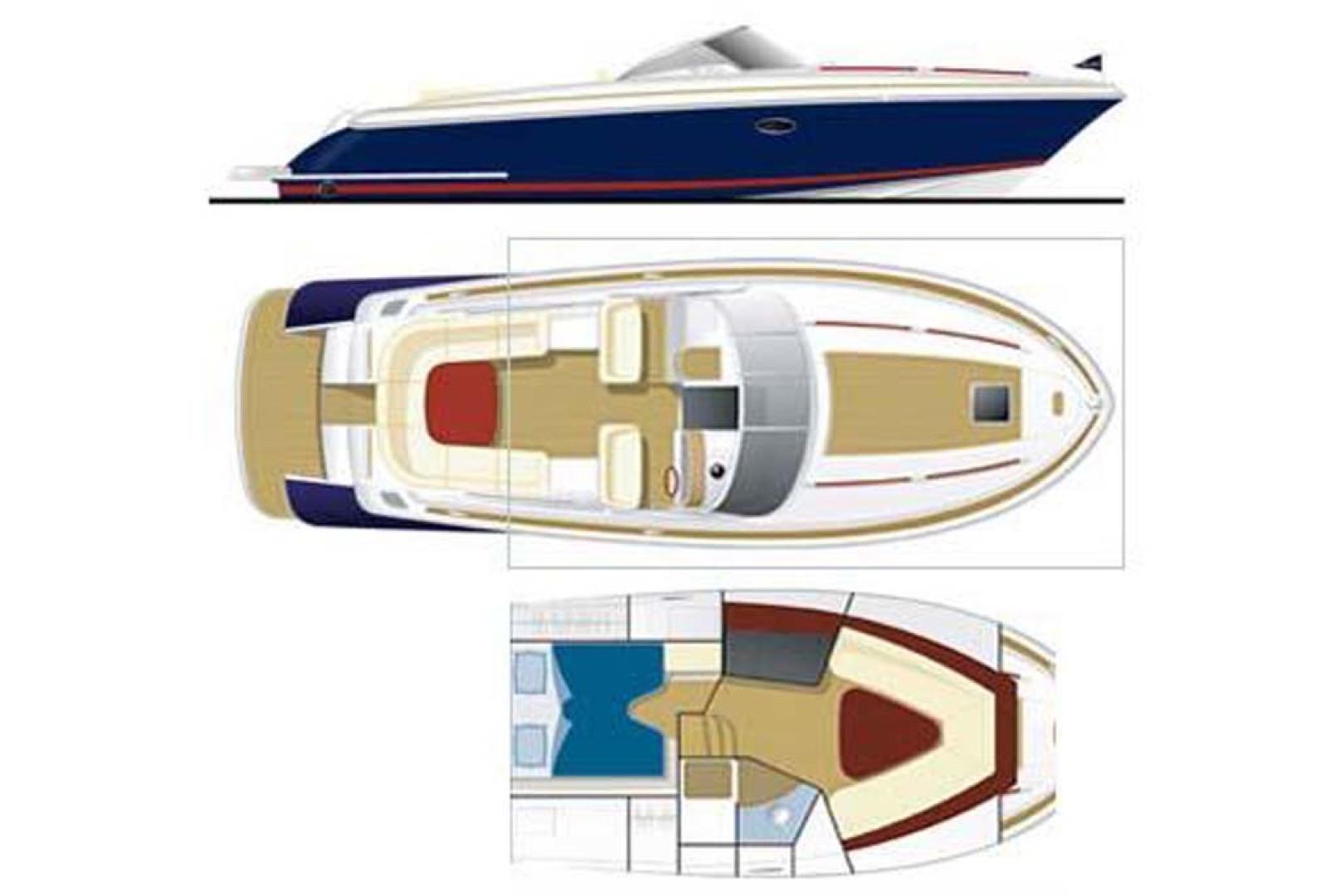 Chris-Craft-Corsair 36 2013-La Dolce Vita Fort Lauderdale-Florida-United States-Line Drawing-1074562 | Thumbnail