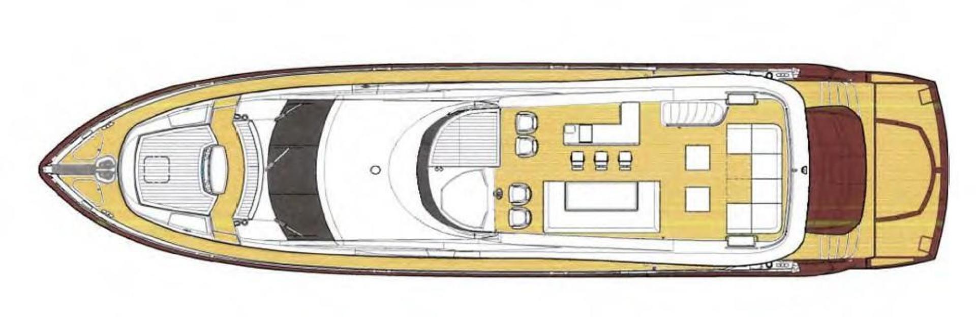 Sunseeker-Flybridge Motoryacht 2009-ANNABEL Mallorca-Spain-Flybridge Layout-902632 | Thumbnail