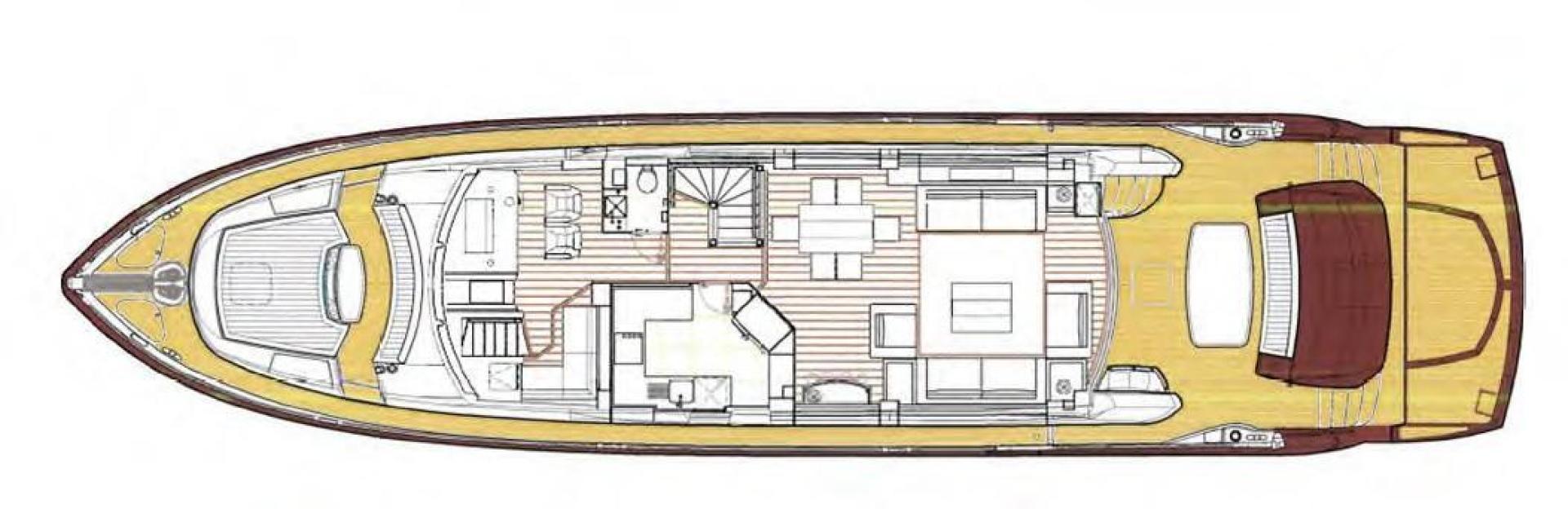 Sunseeker-Flybridge Motoryacht 2009-ANNABEL Mallorca-Spain-Main Deck Layout-902633 | Thumbnail
