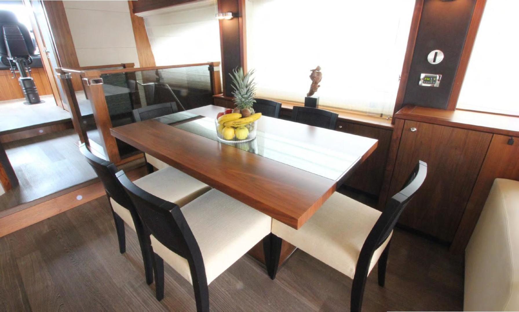 Sunseeker-Flybridge Motoryacht 2009-ANNABEL Mallorca-Spain-Dining Area-902614 | Thumbnail