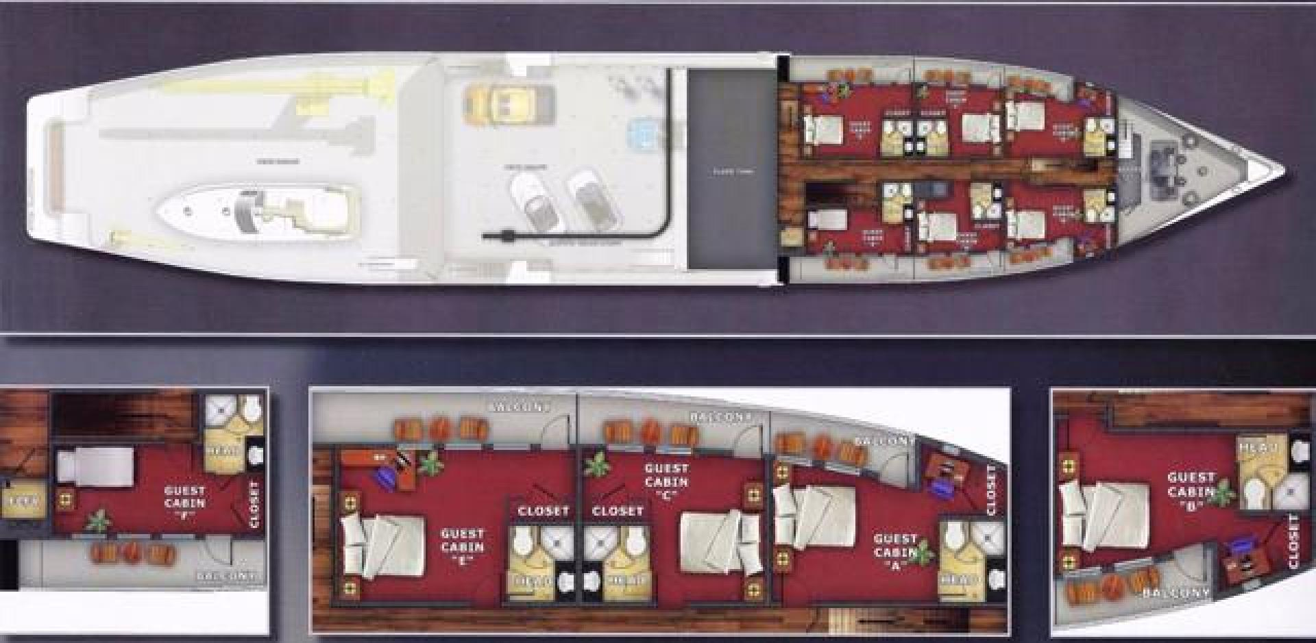 Shadow-Marine Expedition Mothership  Allure Class 2007-Global Ft. Lauderdale-Florida-United States-Guest Deck Layout-919077 | Thumbnail