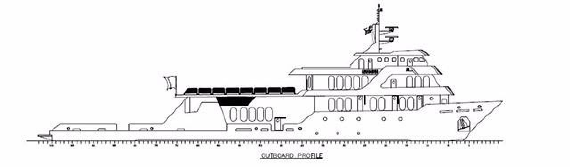Shadow-Marine Expedition Mothership  Allure Class 2007-Global Ft. Lauderdale-Florida-United States-Global Line Drawing Profile-919145 | Thumbnail