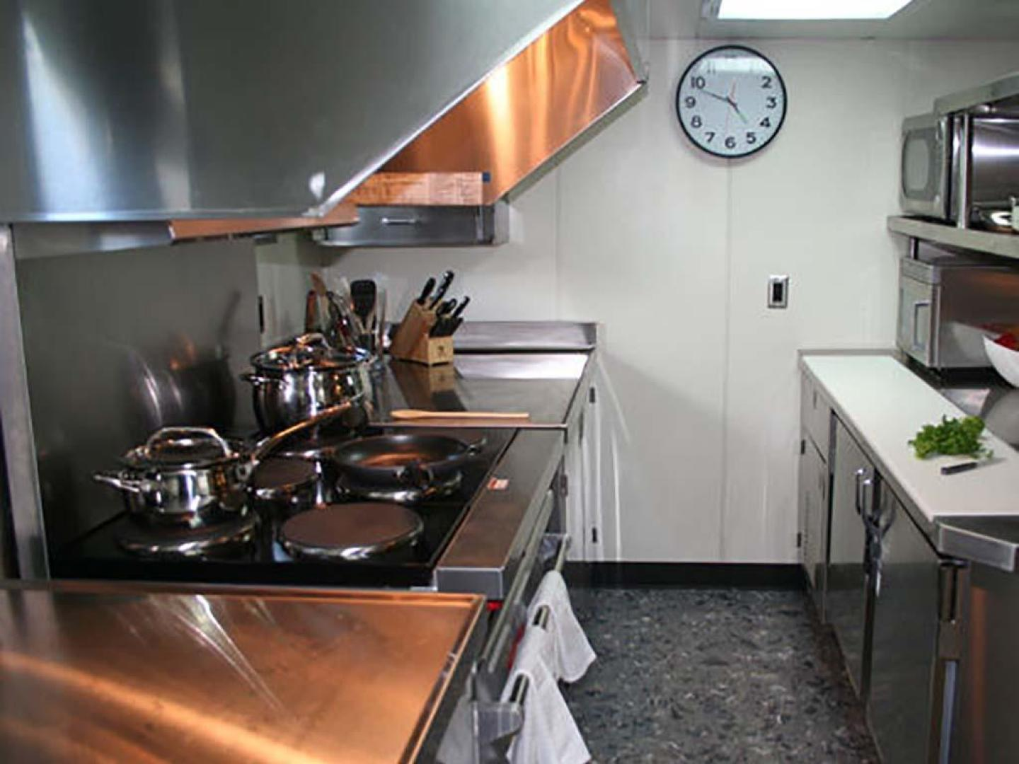 Shadow-Marine Expedition Mothership  Allure Class 2007-Global Ft. Lauderdale-Florida-United States-Stainless Steel Commercial Galley Cooking Area-919047 | Thumbnail