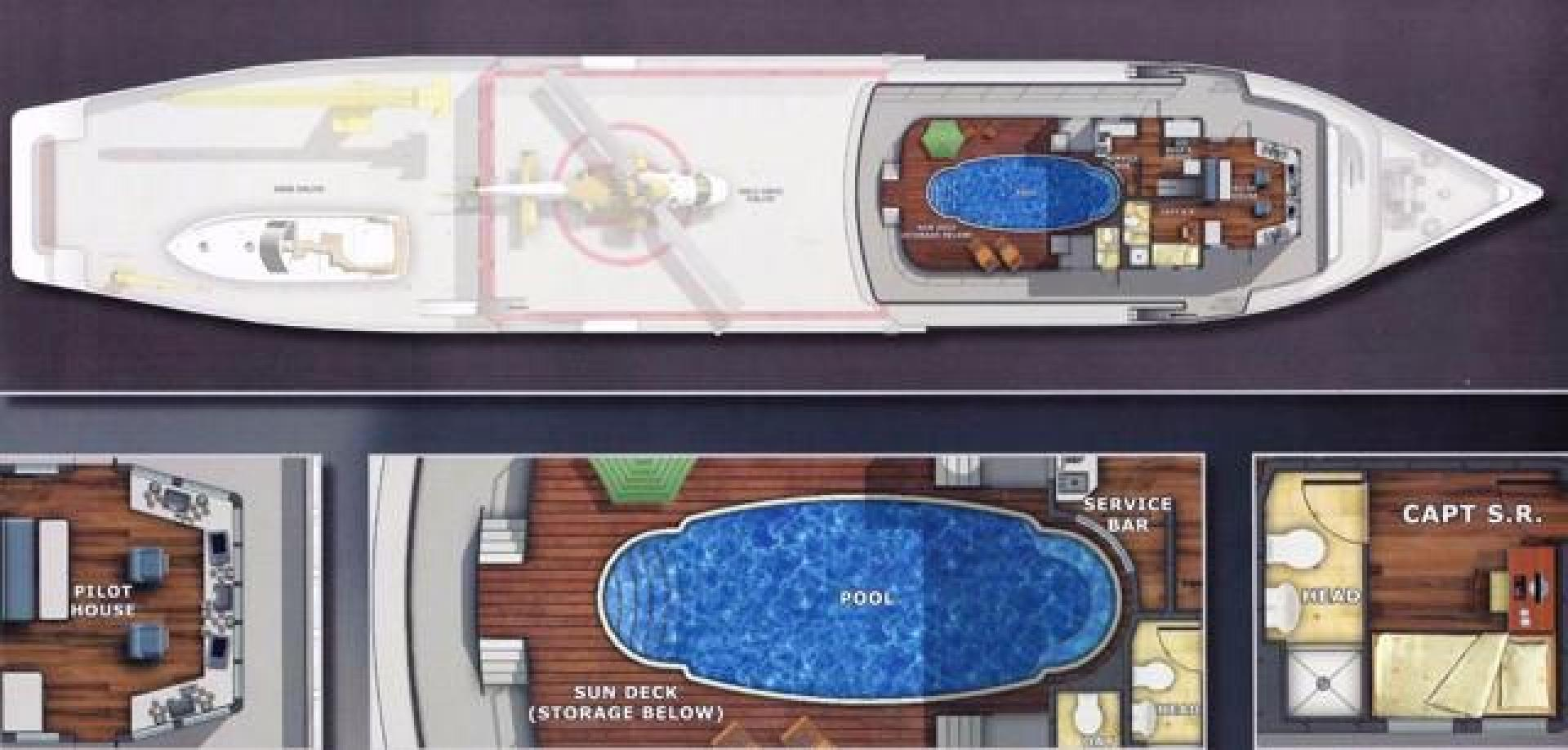 Shadow-Marine Expedition Mothership  Allure Class 2007-Global Ft. Lauderdale-Florida-United States-Bridge Deck Layout-919127 | Thumbnail