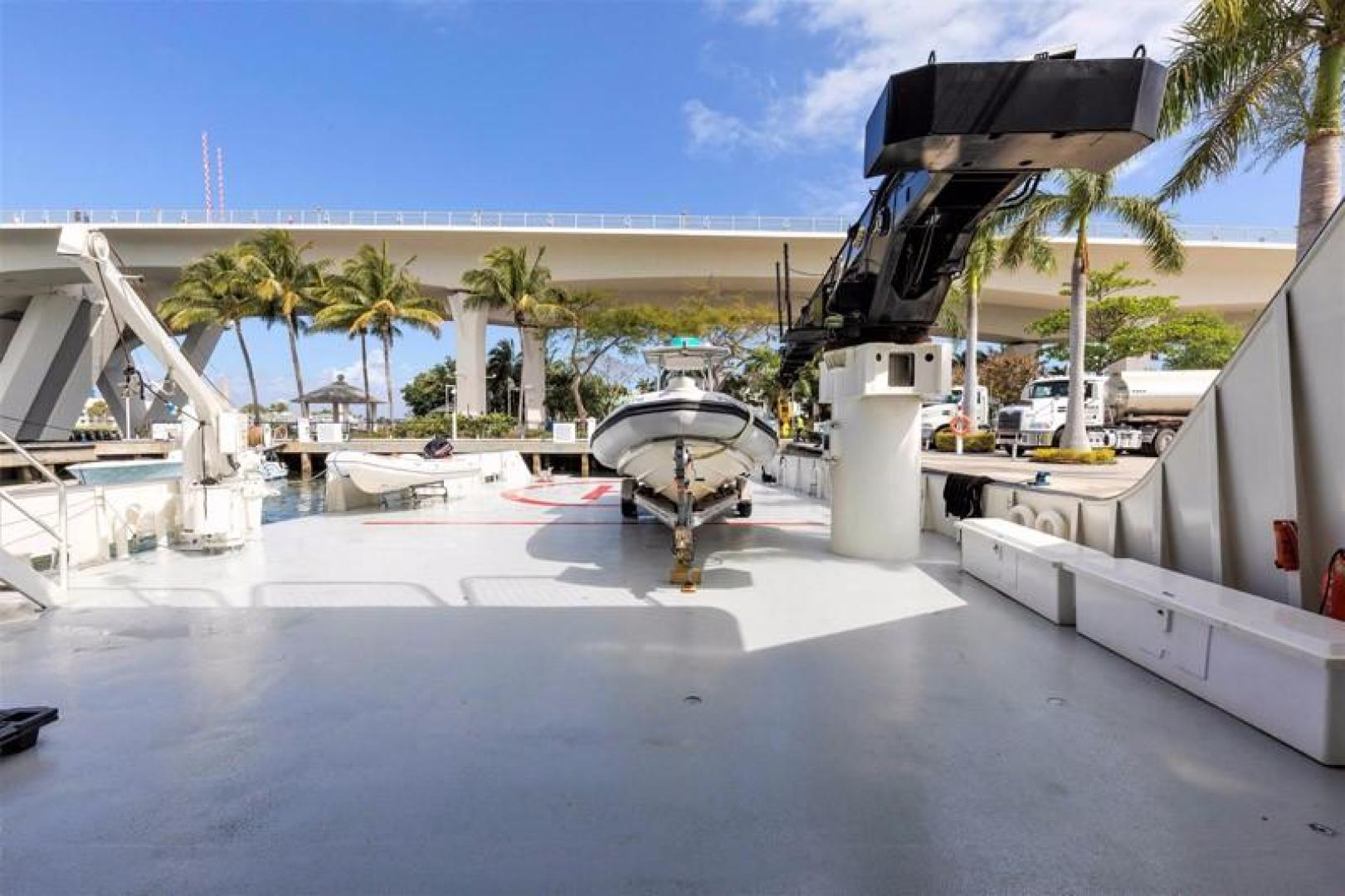 Shadow-Marine Expedition Mothership  Allure Class 2007-Global Ft. Lauderdale-Florida-United States-Main Deck Helipad with Davit and Crane-919033 | Thumbnail