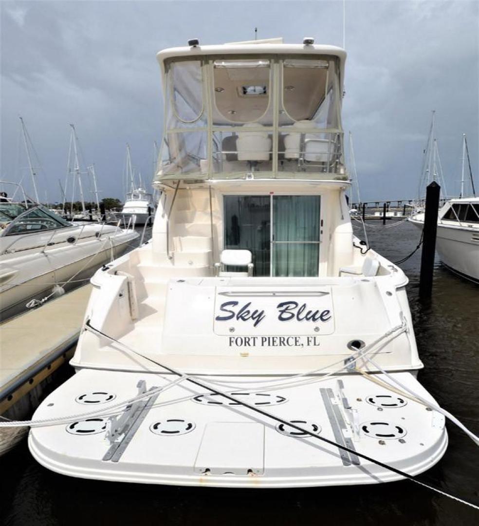 Sea-Ray-480-Sedan-Bridge-1999-Sky-Blue-Fort-Pierce-Florida-United-States-Stern-View-920124
