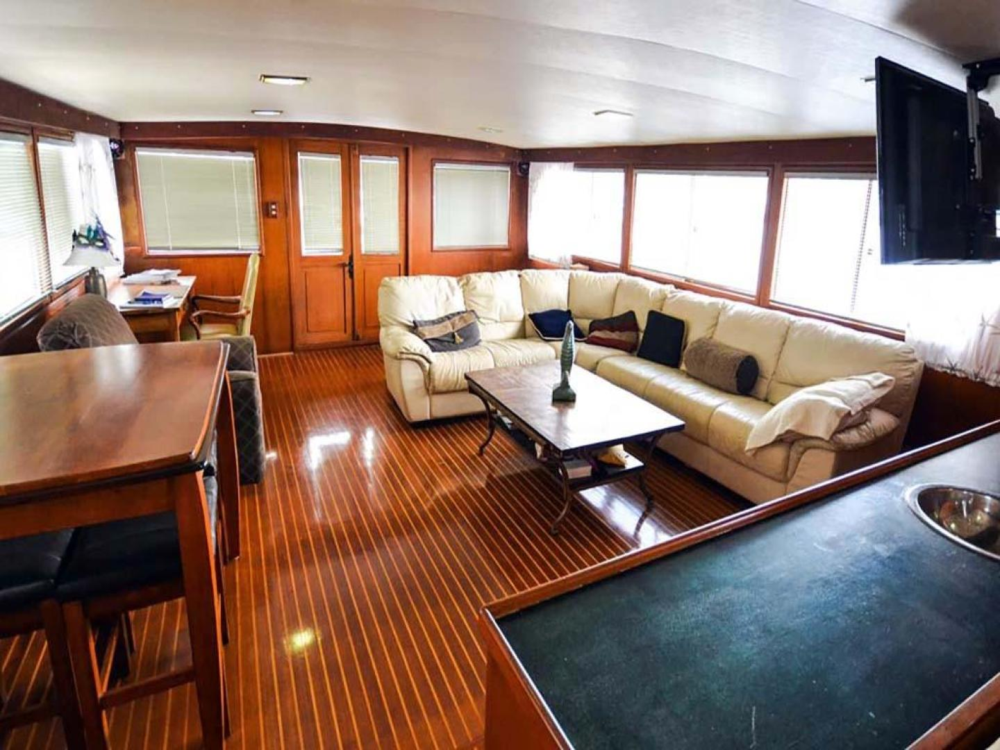 Sea Ranger-56 Motor Yacht 1987-Déjà Vu Too Stuart-Florida-United States-Salon Looking Aft-920174 | Thumbnail