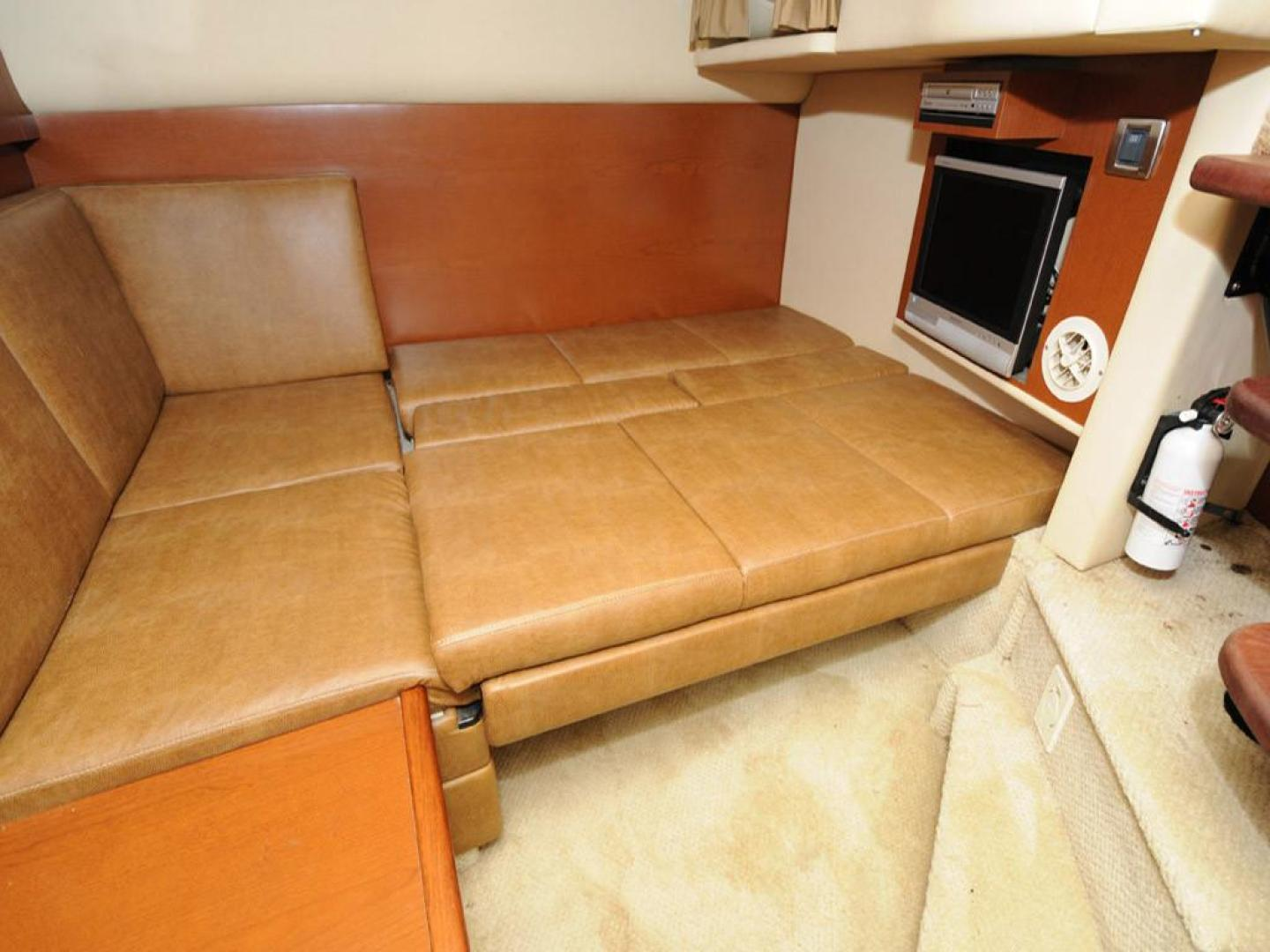 Sea Ray-38 Sundancer 2007-El Don North Beach-Maryland-United States-Mid Cabin Settee Folded Down-923267 | Thumbnail