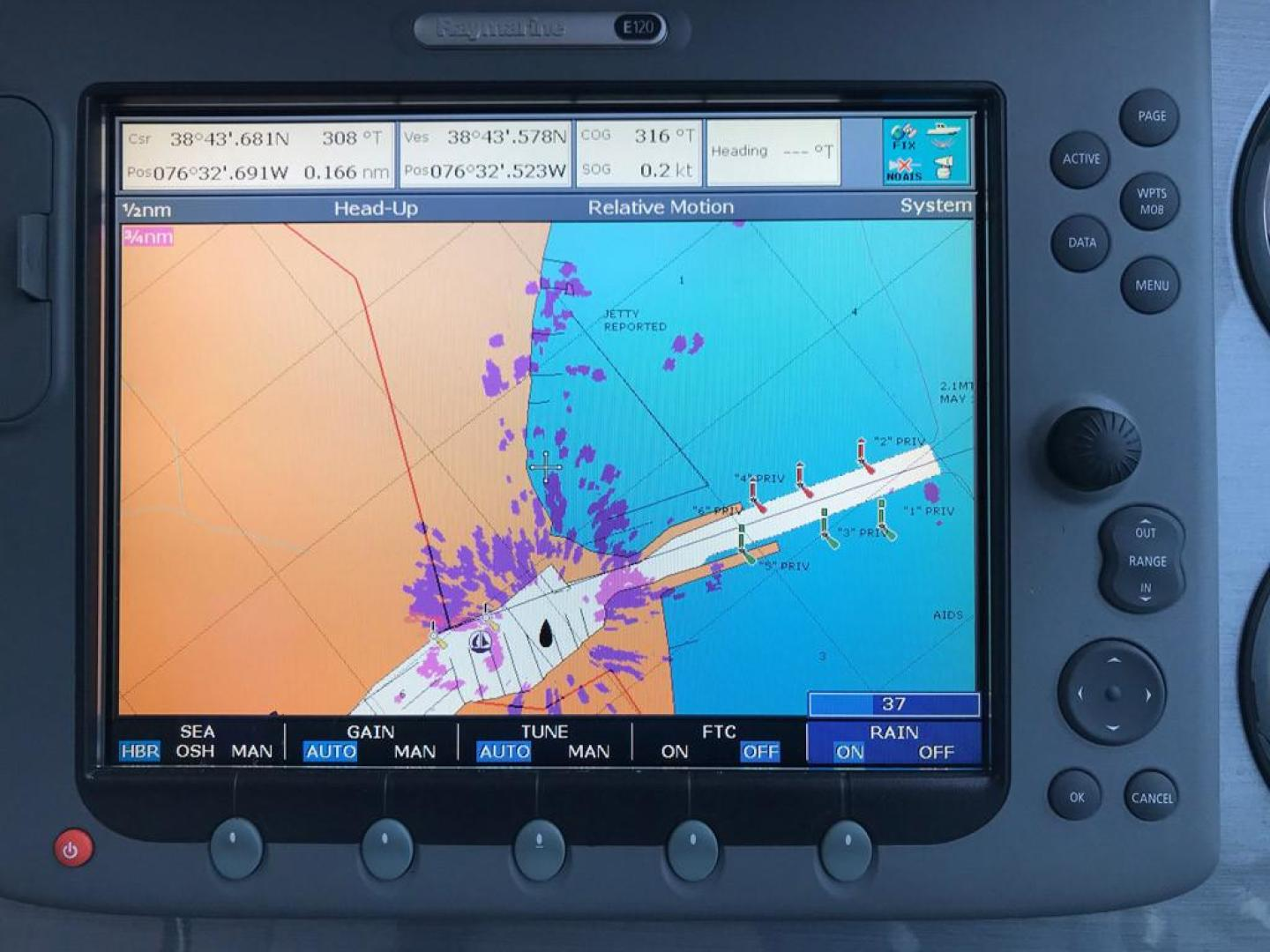 Sea-Ray-38-Sundancer-2007-El-Don-North-Beach-Maryland-United-States-Helm-Chartplotter-Radar-Energized-923280