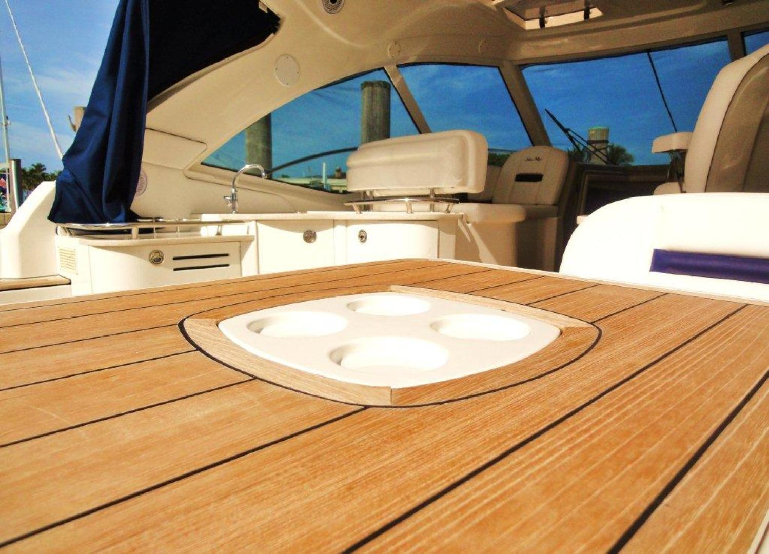 Sea Ray-48 Sundancer 2008-Francesca Coconut Grove-Florida-United States-Table with Built-In Cup Holders-918637 | Thumbnail