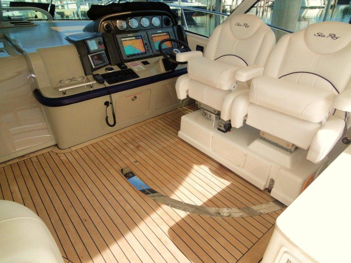 Sea Ray-48 Sundancer 2008-Francesca Coconut Grove-Florida-United States-Swivel Helm Bench-918640 | Thumbnail