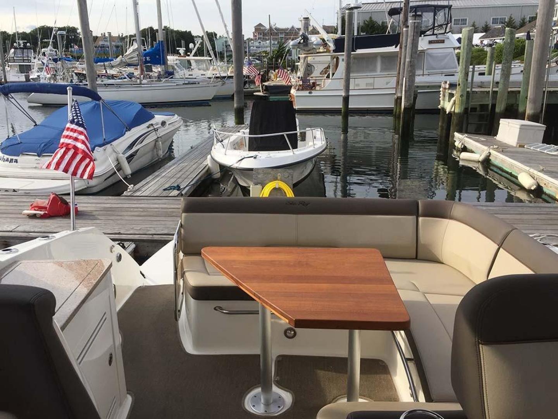 Sea Ray-350 Sundancer 2015-Tyeland Hyannis-Massachusetts-United States-Cockpit Seating-930367 | Thumbnail