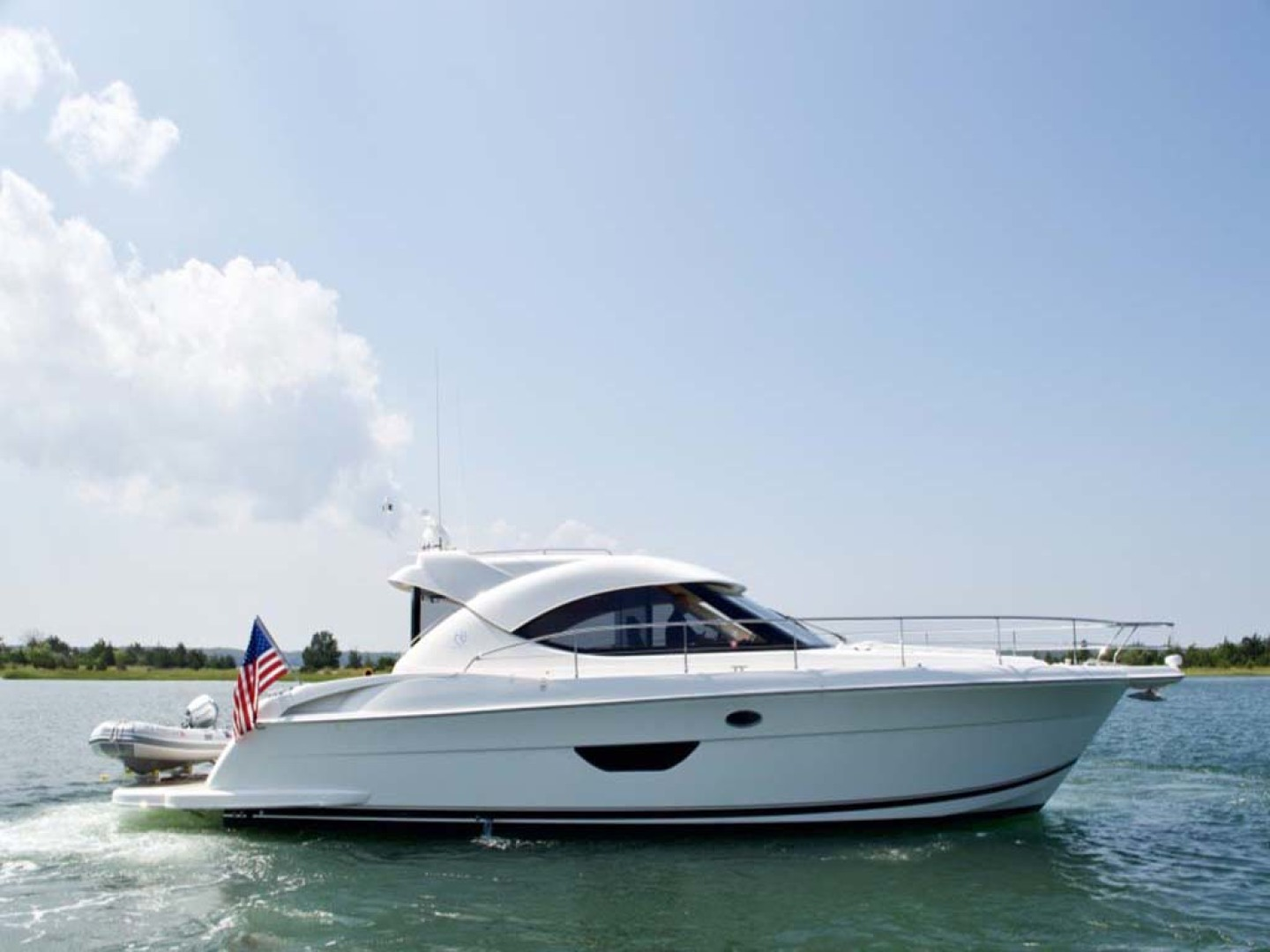 Riviera-4400 Sport Yacht 2009-Soul Mates Long Island-United States-44 Riviera 2009 Starboard Profile-1062525 | Thumbnail
