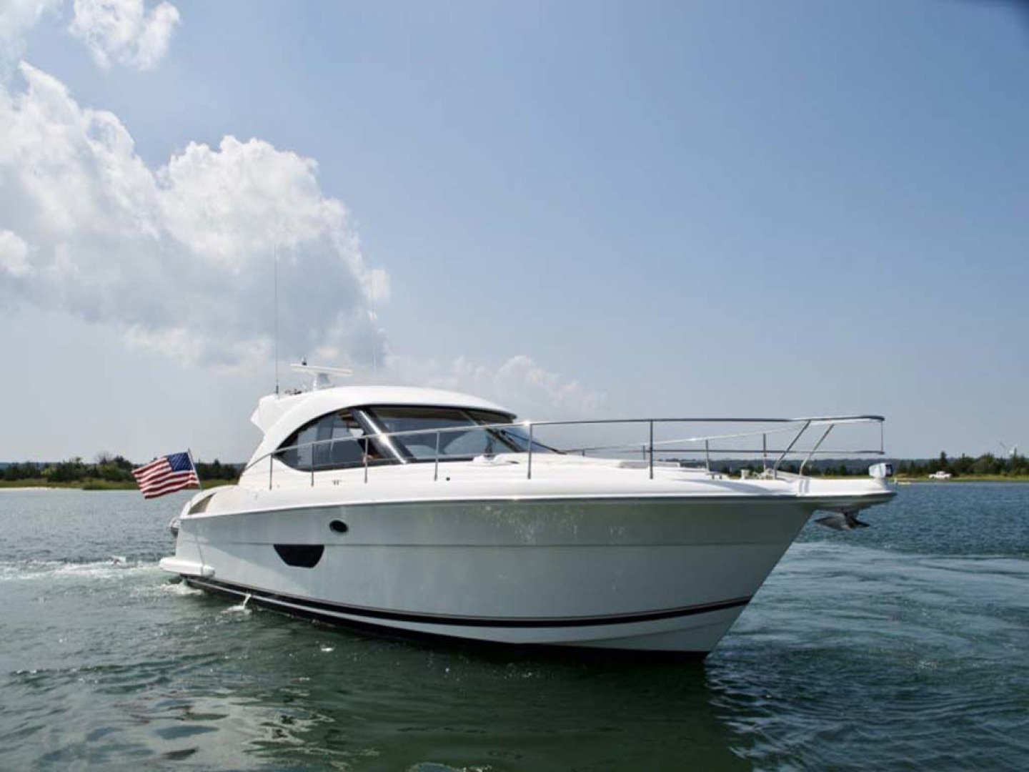 Riviera-4400 Sport Yacht 2009-Soul Mates Long Island-United States-44 Riviera 2009 Starboard Profile-1062526 | Thumbnail