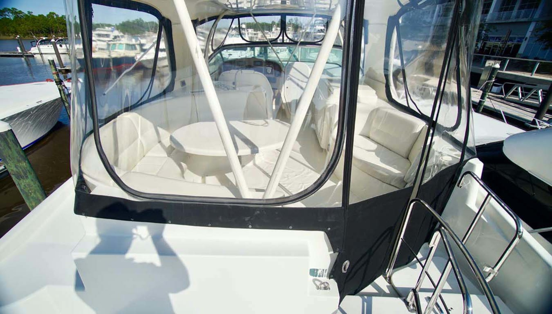 Carver-560 Voyager 2006-NEED A BREAK Fort Myers-Florida-United States-Flybridge Seating Enclosure-1105796   Thumbnail