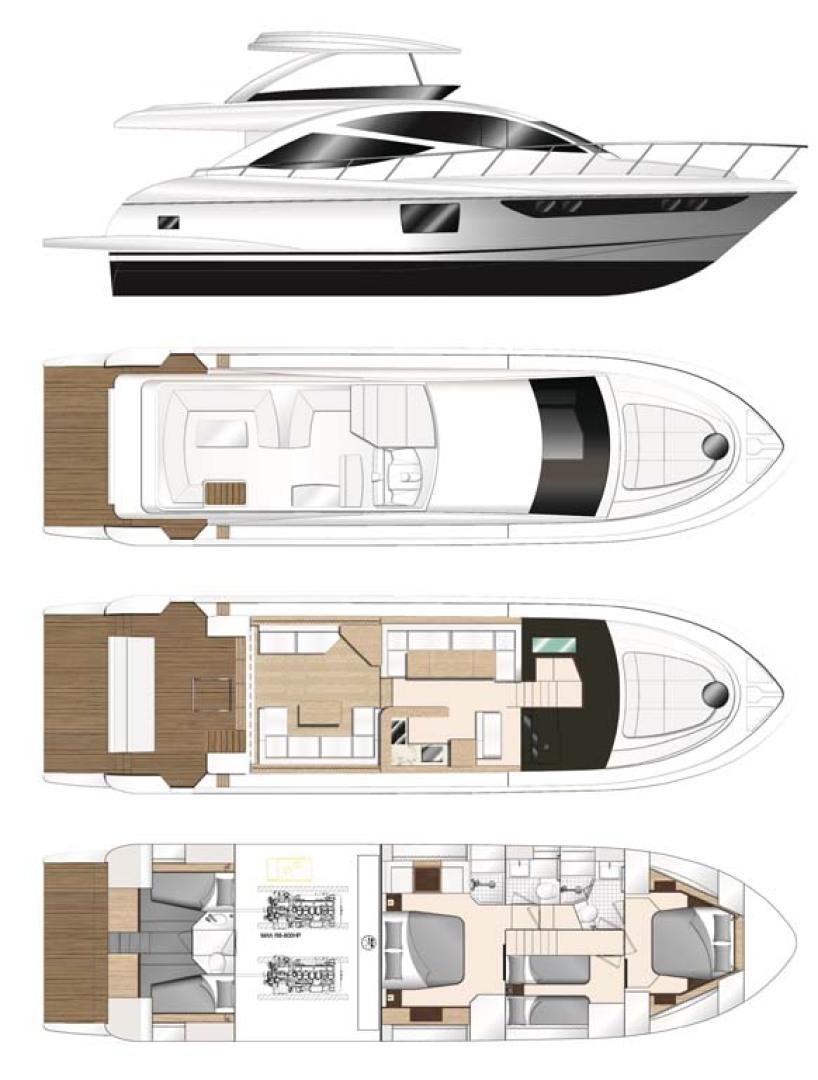 Dyna Yachts-Flybridge 2021 -Florida-United States-Layout Galley Forward-1065878 | Thumbnail
