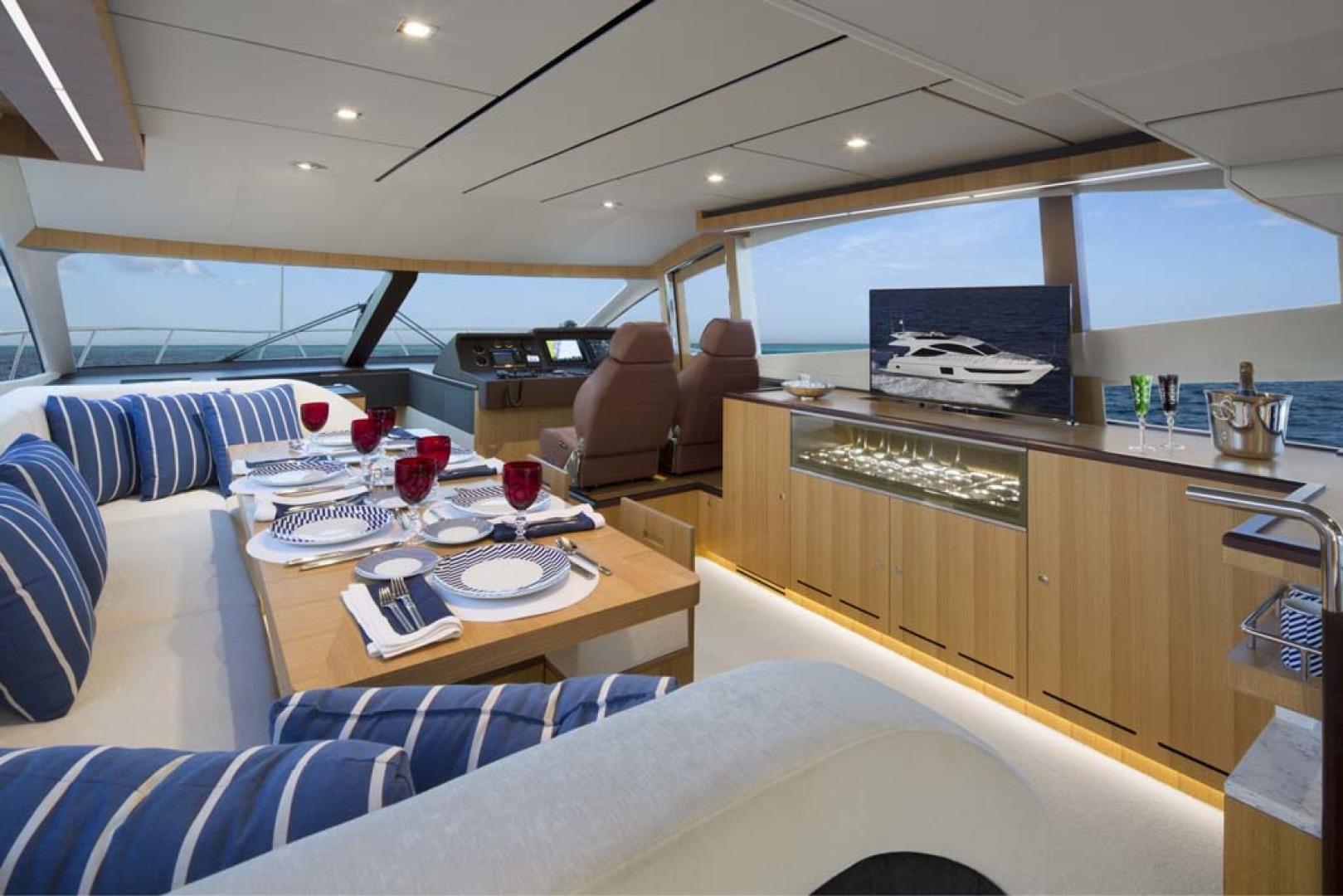 Dyna Yachts-Flybridge 2021 -Florida-United States-Salon Seating-1065889 | Thumbnail