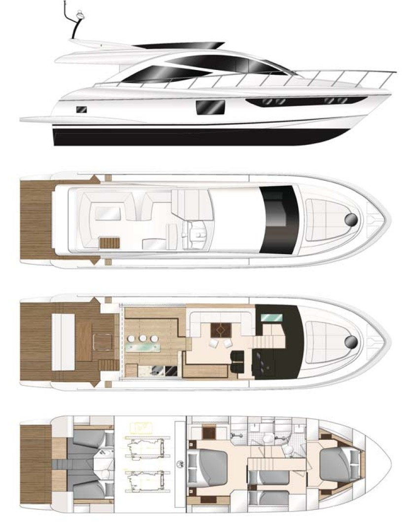 Dyna Yachts-Flybridge 2021 -Florida-United States-Layout Galley Aft-1065886 | Thumbnail