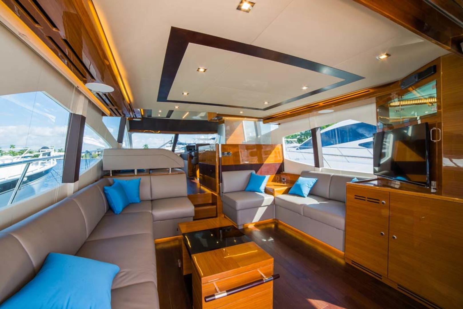 Dyna Yachts-Flybridge 2021 -Florida-United States-Salon Seating-1065884 | Thumbnail