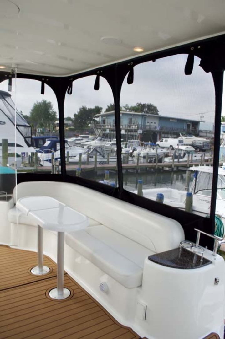 Meridian-459 Motoryacht 2006-Totally Outta Control Long Island-New York-United States-Aft Deck Seating-1068656 | Thumbnail