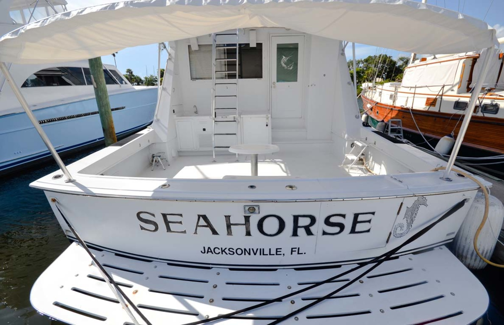 Hatteras-60 Flybridge 1979-Sea Horse Daytona Beach-Florida-United States-Stern View-1183212 | Thumbnail