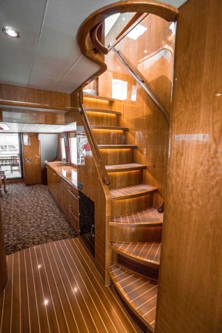 Horizon-Cockpit-Motor-Yacht-2008-Liberation-Stuart-Florida-United-States-Stairway-to-Enclosed-Bridge-1075334