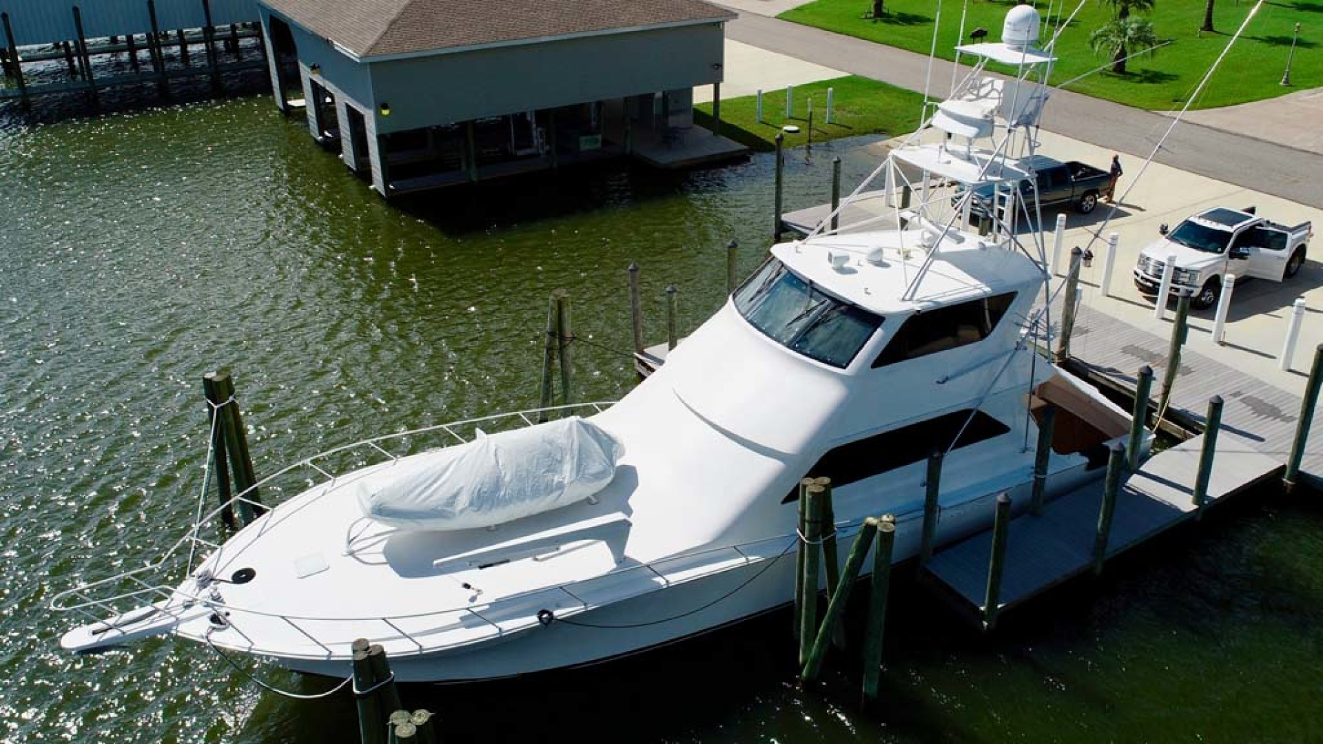 Viking-65 Enclosed Bridge Convertible 2001-TalkN Trash Orange Beach-Alabama-United States-Port Side-1075798 | Thumbnail