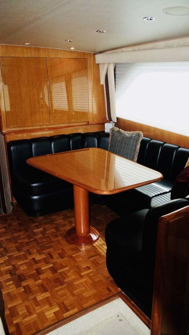 Viking-65 Enclosed Bridge Convertible 2001-TalkN Trash Orange Beach-Alabama-United States-Dinette-1075851 | Thumbnail