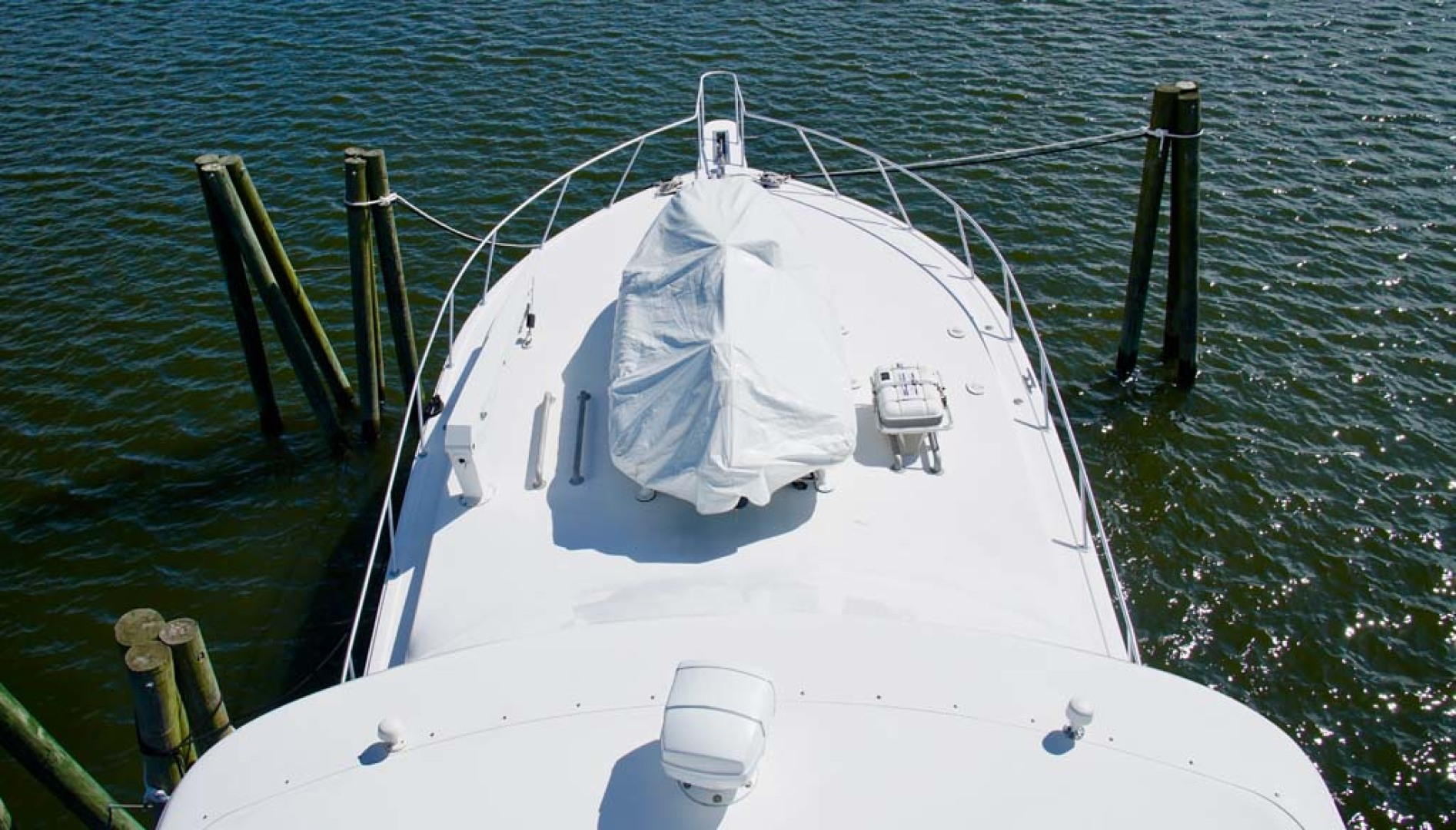 Viking-65 Enclosed Bridge Convertible 2001-TalkN Trash Orange Beach-Alabama-United States-Foredeck-1075832 | Thumbnail