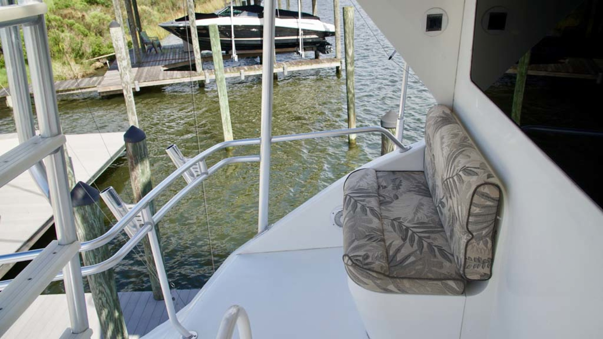 Viking-65 Enclosed Bridge Convertible 2001-TalkN Trash Orange Beach-Alabama-United States-Helm Exterior-1075830 | Thumbnail