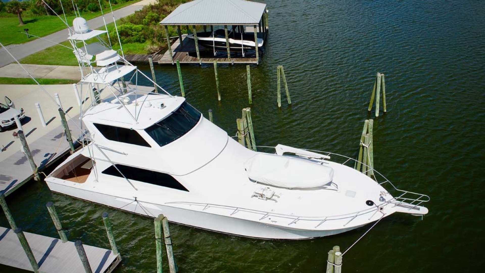 Viking-65 Enclosed Bridge Convertible 2001-TalkN Trash Orange Beach-Alabama-United States-1075797 | Thumbnail