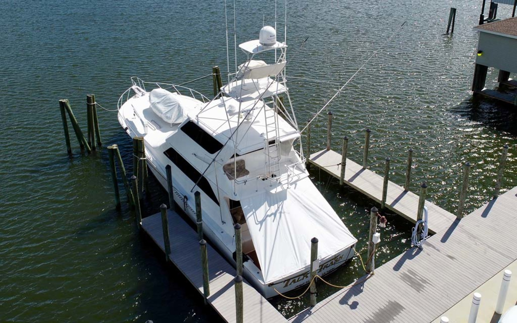 Viking-65 Enclosed Bridge Convertible 2001-TalkN Trash Orange Beach-Alabama-United States-Stern-1075799 | Thumbnail