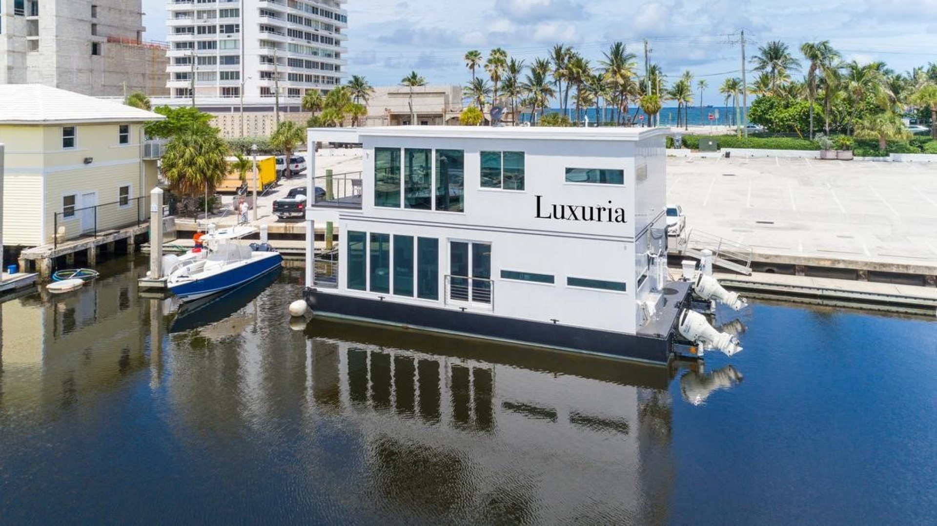 Global Boatworks-Luxury House Yacht 2017-Luxuria Ft. Lauderdale-Florida-United States-Luxuria in her $25,000/month Income Producing Slip at Bahia Mar, Ft. Lauderdale, FL-1099594 | Thumbnail