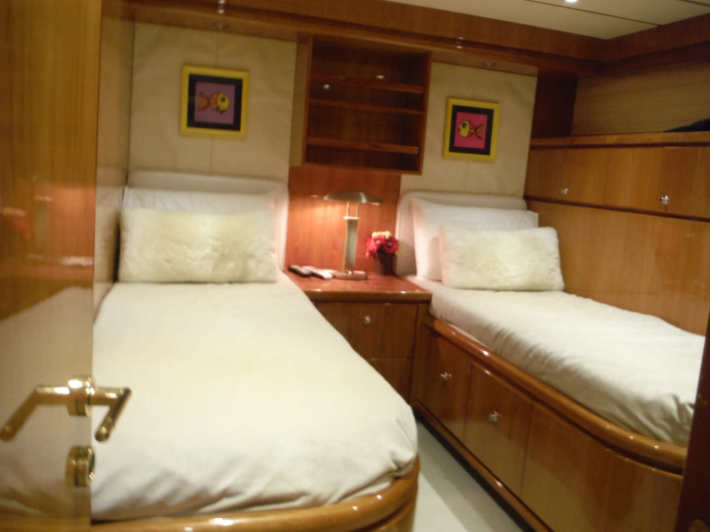 Hargrave-Flybridge Motor Yacht 2001-GRACE Fort Lauderdale-Florida-United States-Starboard Side Twin Cabin-1091959 | Thumbnail