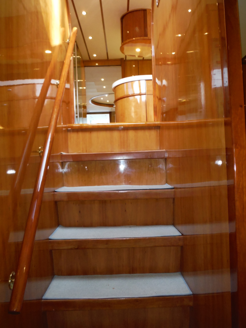 Hargrave-Flybridge Motor Yacht 2001-GRACE Fort Lauderdale-Florida-United States-Steps to Forward Cabins-1091940 | Thumbnail