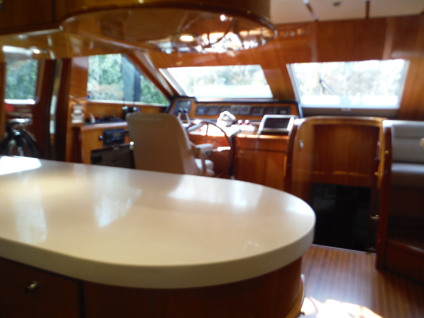 Hargrave-Flybridge Motor Yacht 2001-GRACE Fort Lauderdale-Florida-United States-Galley Looking Forward-1091929 | Thumbnail
