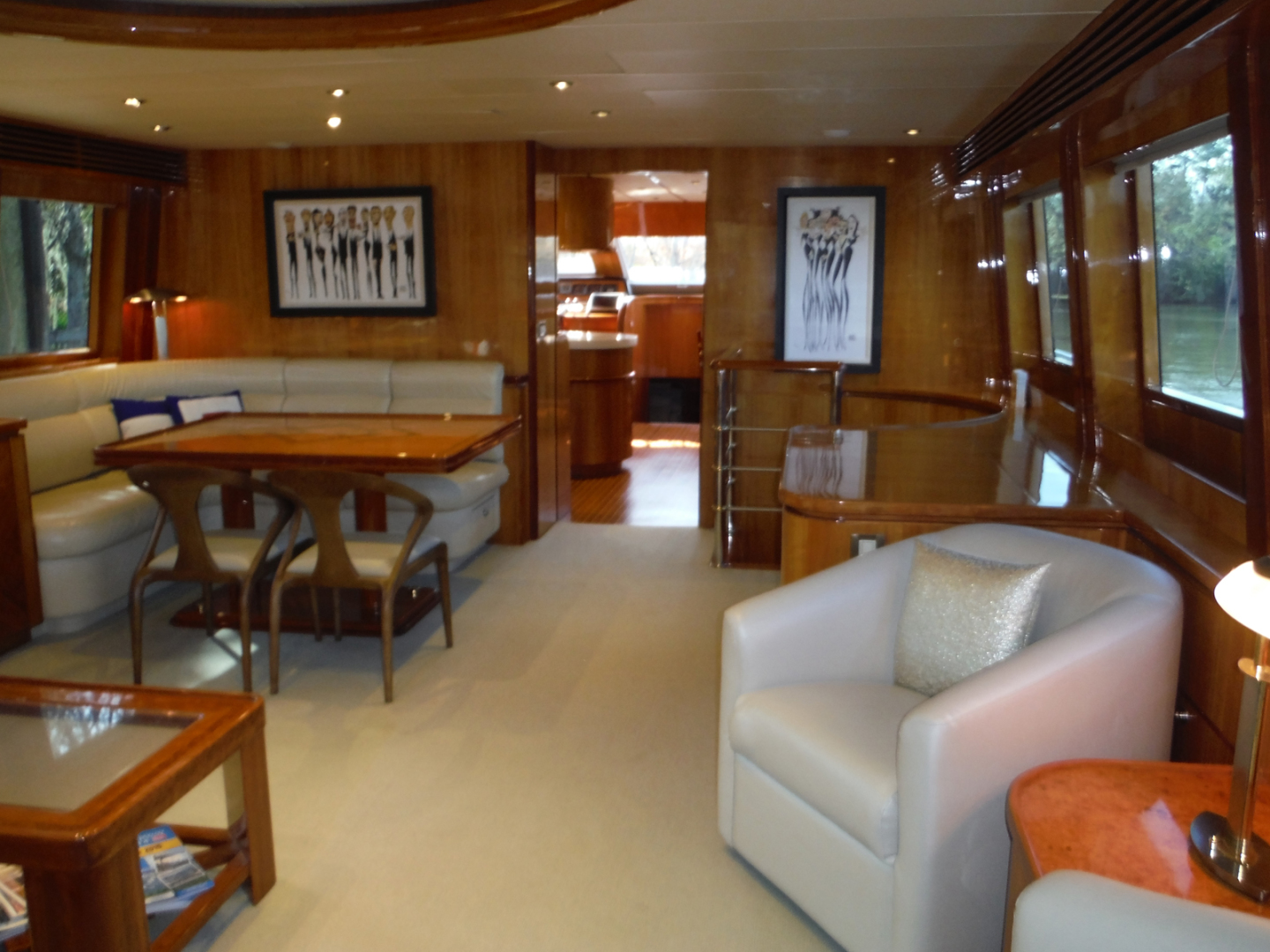 Hargrave-Flybridge Motor Yacht 2001-GRACE Fort Lauderdale-Florida-United States-Salon Looking Forward to Starboard-1091918 | Thumbnail