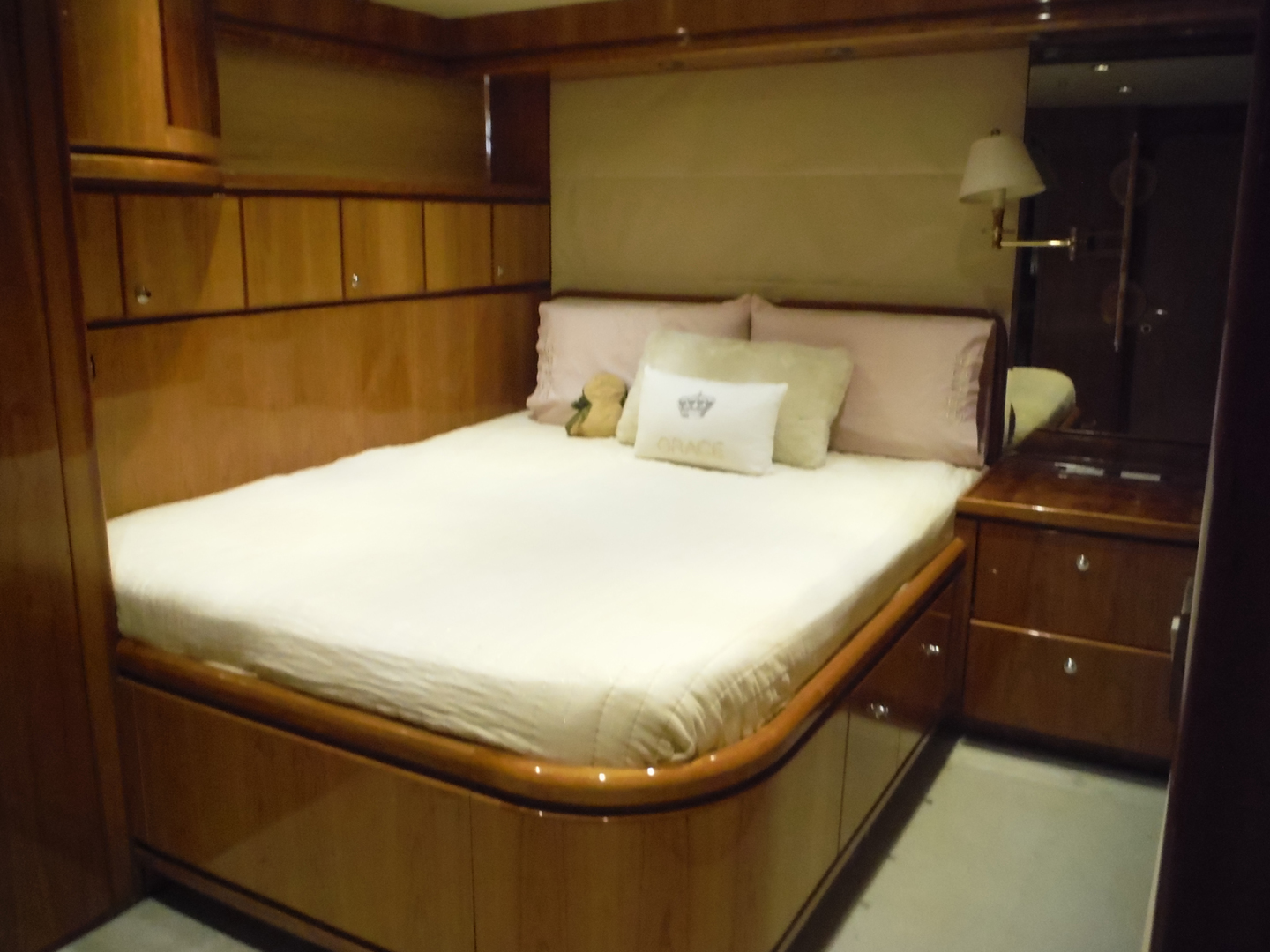 Hargrave-Flybridge Motor Yacht 2001-GRACE Fort Lauderdale-Florida-United States-Port Side Double Cabin Looking Forward-1091955 | Thumbnail