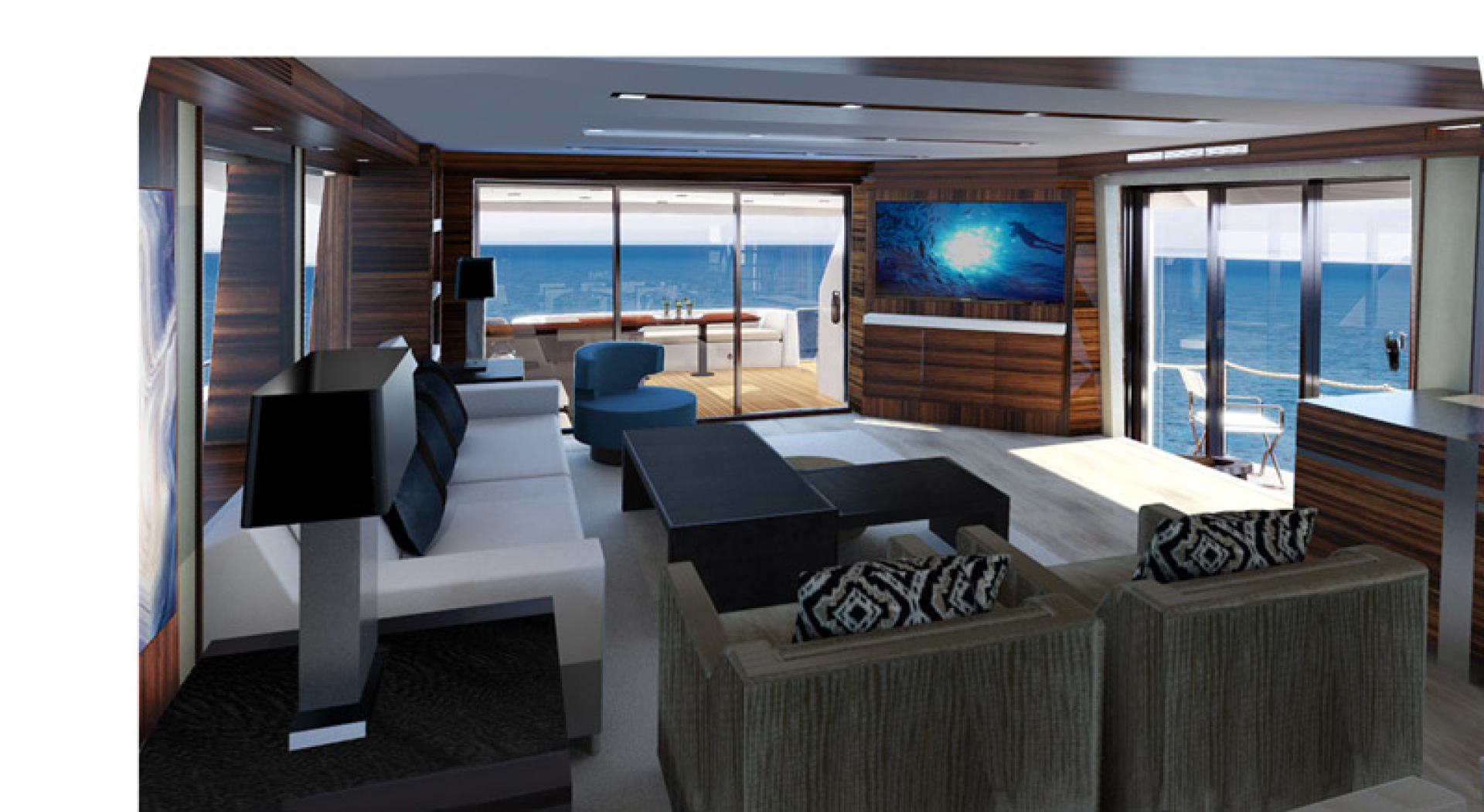 Hatteras-M90 Panacera 2020 -Cape May-New Jersey-United States-Main Deck Interior-1084087 | Thumbnail