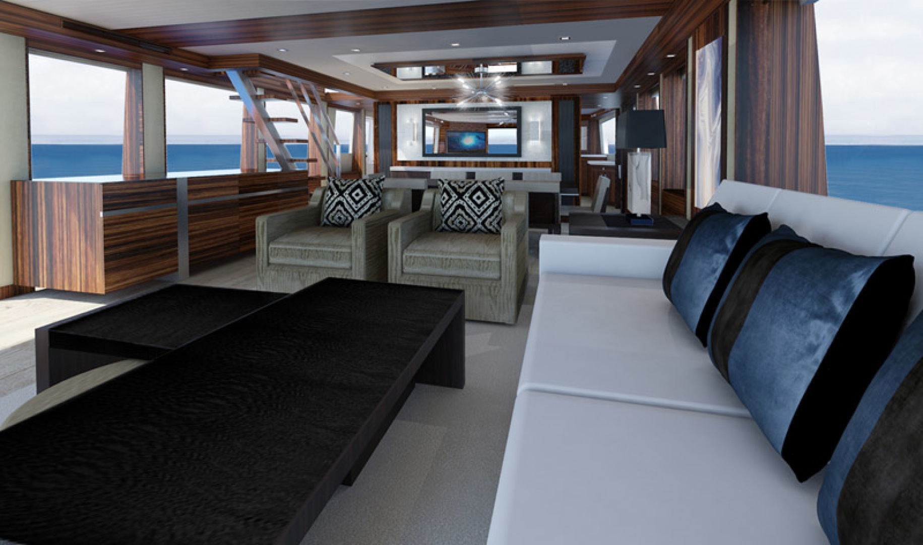 Hatteras-M90 Panacera 2020 -Cape May-New Jersey-United States-Main Deck Interior-1084086 | Thumbnail
