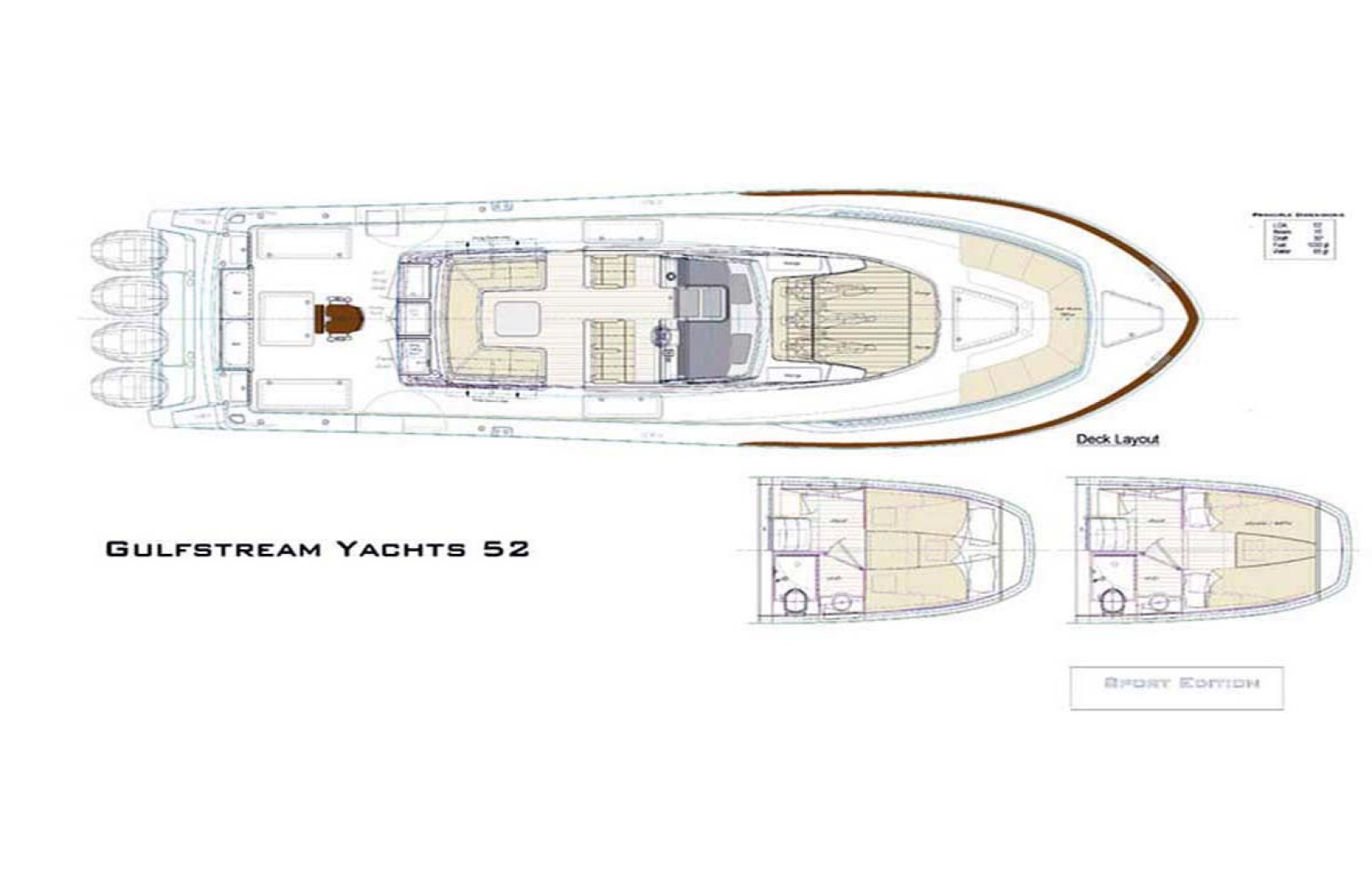 Gulfstream Yachts-Tournament Edition 2022 -Tampa-Florida-United States-Deck Layout-1134627 | Thumbnail