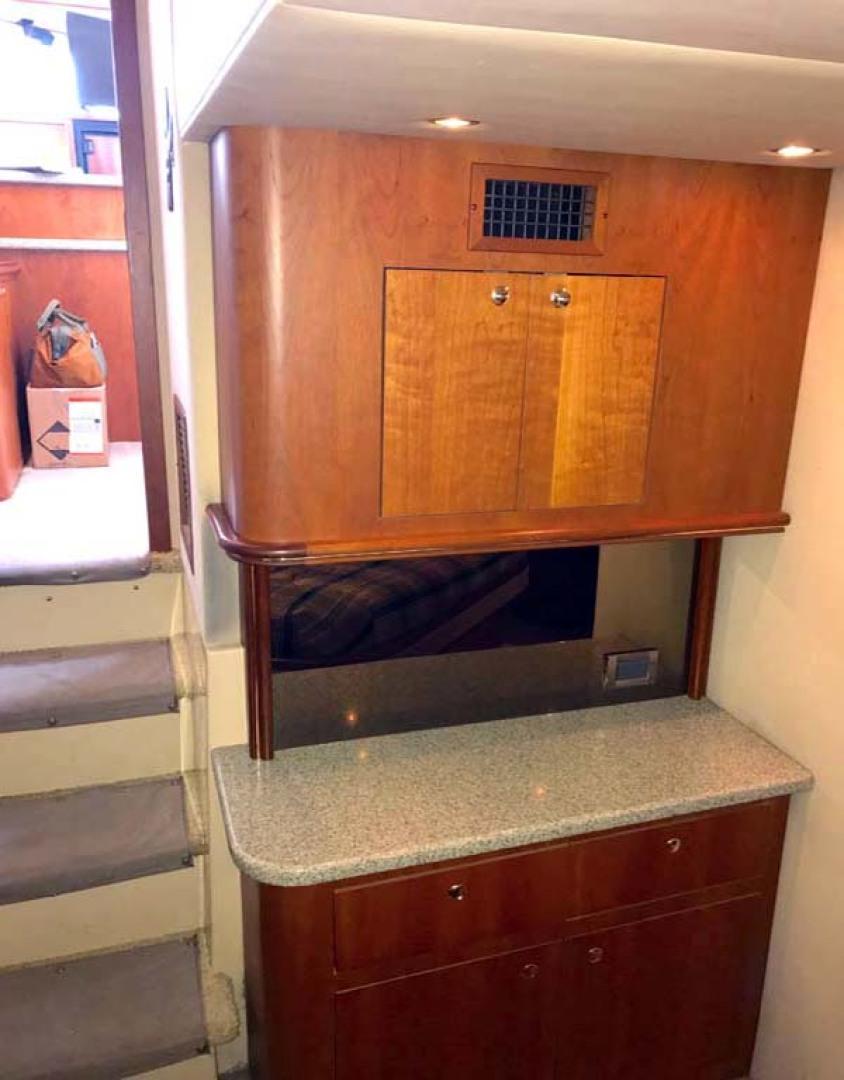Cruisers Yachts-4450 2002-Sea renity Gulf Shores-Alabama-United States-Master Stateroom Multi-Use Cabinet with Corian Counter-1089548 | Thumbnail