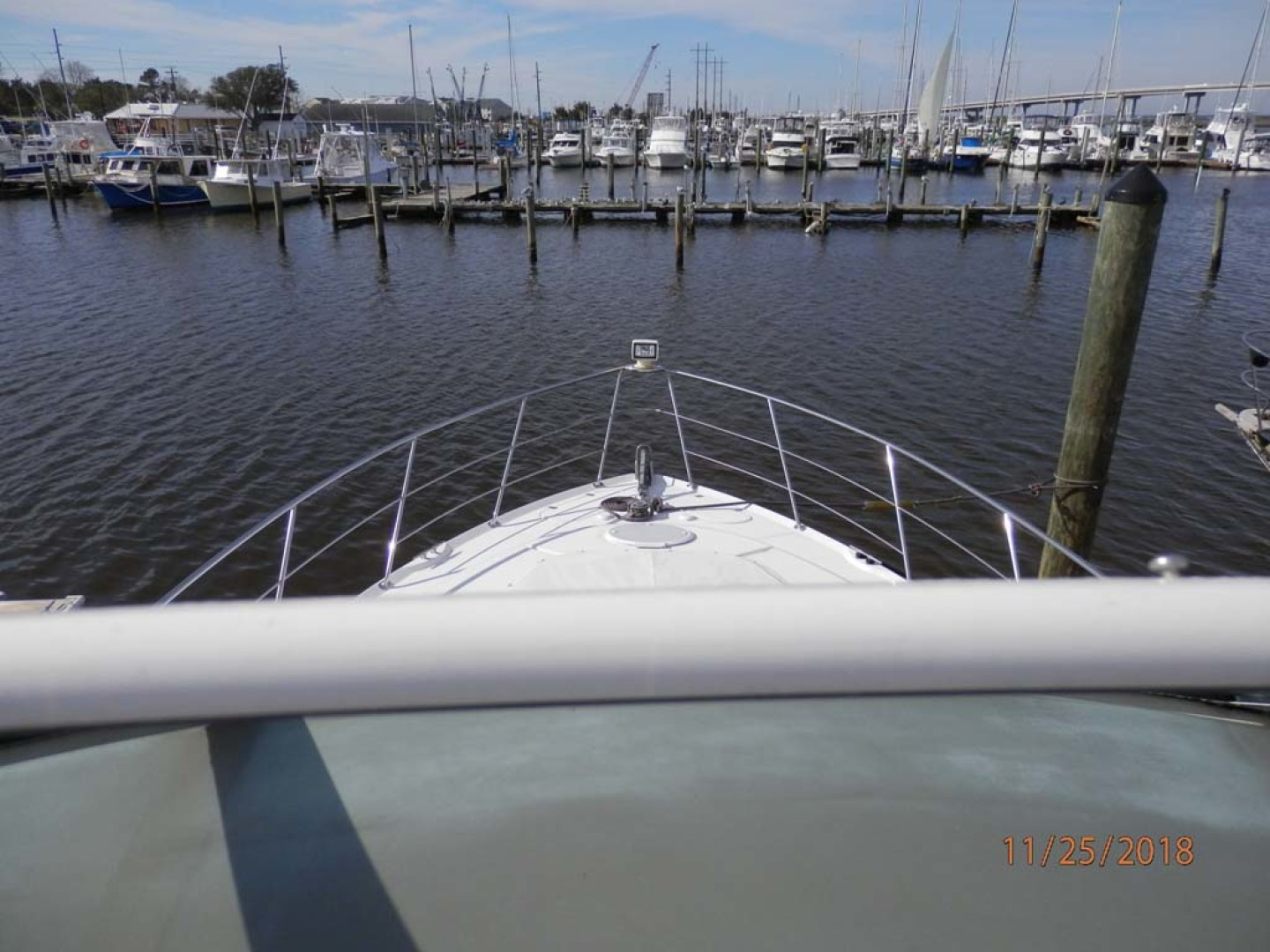 Carver-450 Voyager Pilothouse 1999-Carolina Cajun Beaufort-North Carolina-United States-Flybridge Bow View-1093057 | Thumbnail