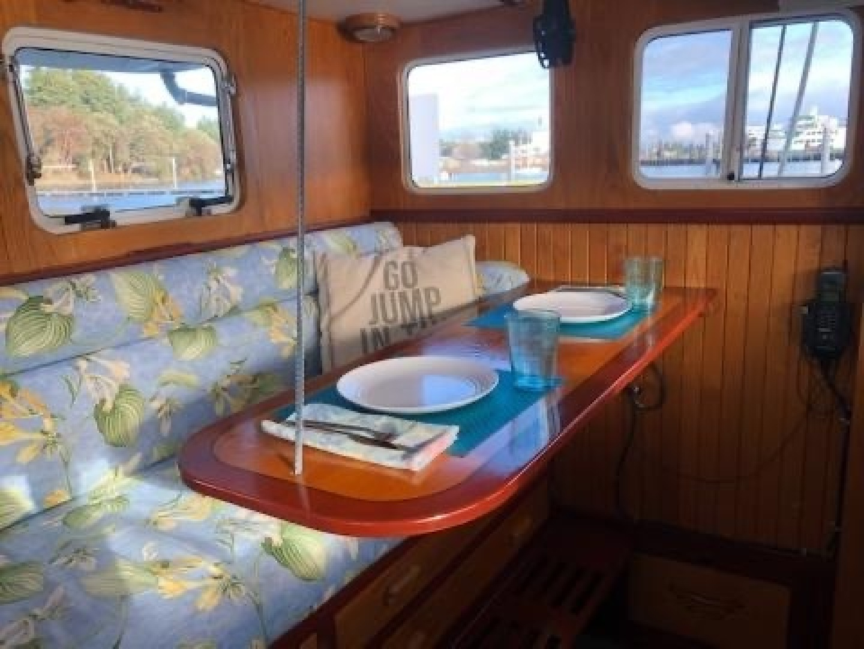 Webbers Cove-1966/2004 Custom Trawler 1966-Deja Bleu Bainbridge Island-Washington-United States-Pilothouse Table-1409610 | Thumbnail