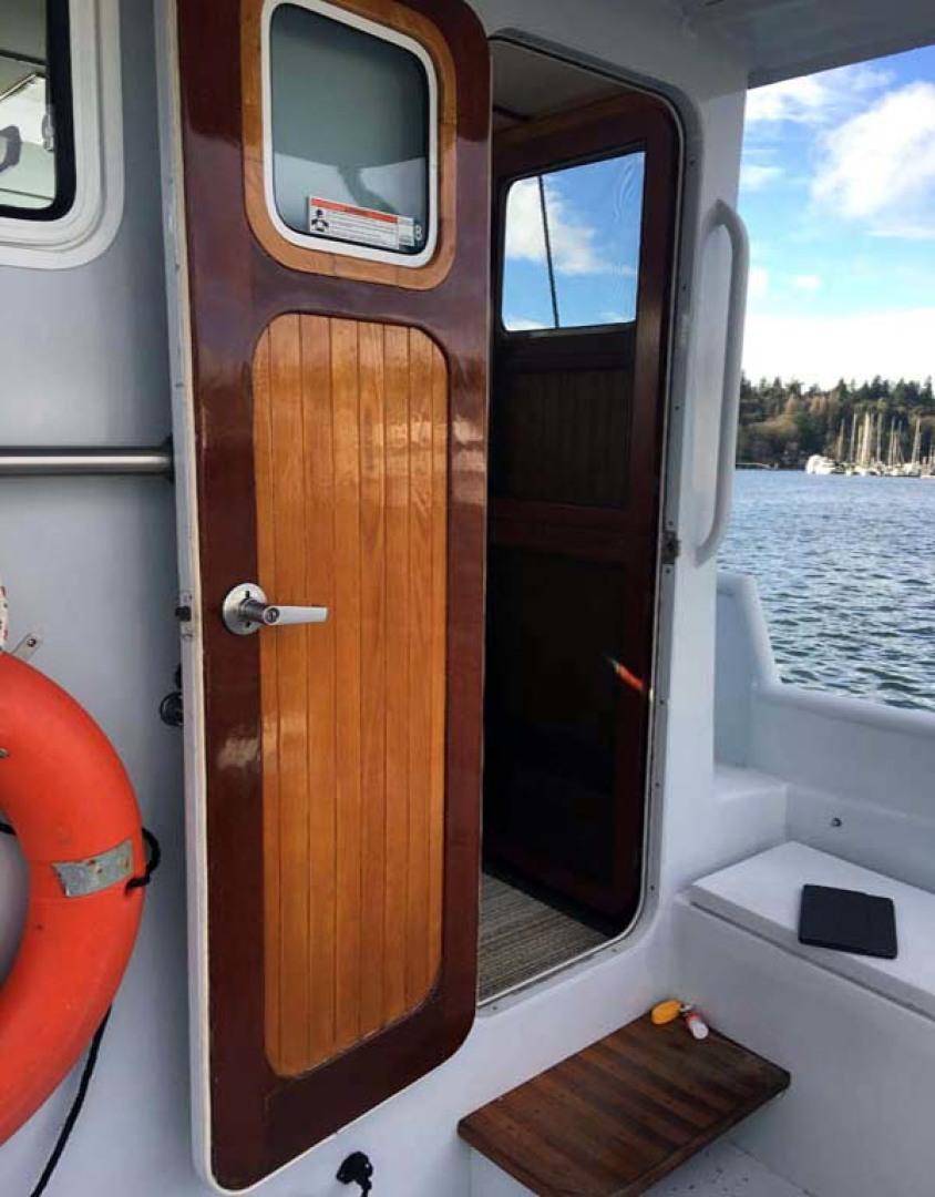 Webbers Cove-1966/2004 Custom Trawler 1966-Deja Bleu Bainbridge Island-Washington-United States-Pilothouse Entrance-1095682 | Thumbnail